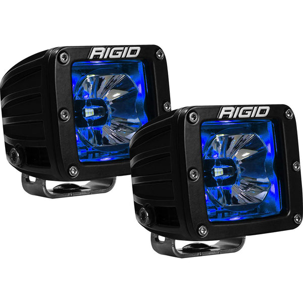 RIGID Industries Radiance Pod Blue Backlight Black Housing - Pair [20201]