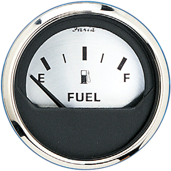 "Faria Spun Silver 2"" Fuel Level Gauge (E-1/2-F) [16001]"