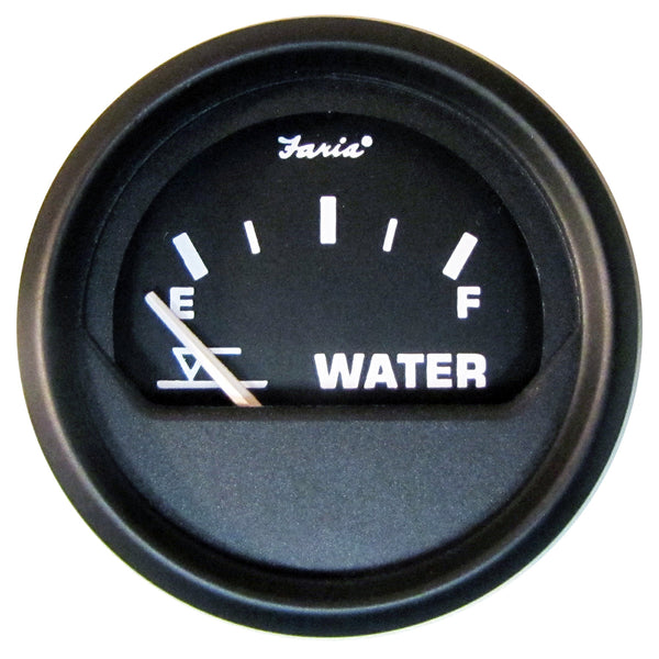 "Faria Euro Black 2"" Tank Level Gauge - Potable Water (Metric) [12831]"