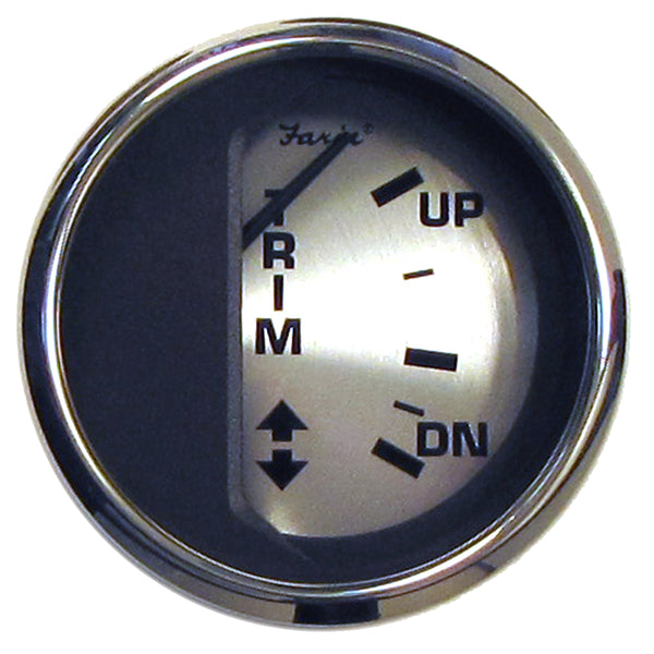 "Faria Spun Silver 2"" Trim Gauge f/Mercury/Mariner/Mercruiser/Volvo DP  Yamaha (01  Newer) [16016]"