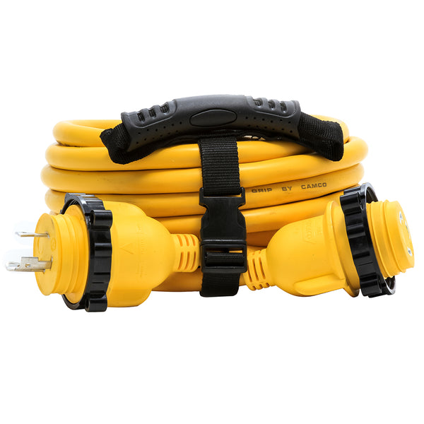 Camco 30 Amp Power Grip Marine Extension Cord - 25 M-Locking/F-Locking Adapter [55611]
