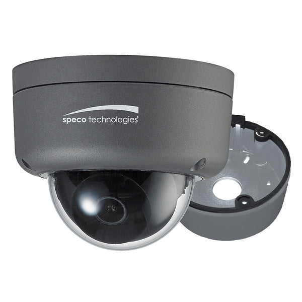 Speco 2MP Ultra Intensifier HD-TVI Dome Camera 3.6mm Lens - Dark Grey Housing w/Included Junction Box [HID8]