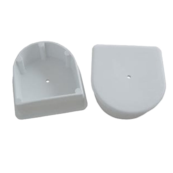 Dock Edge Large End Plug - White *2-Pack [DE1026F]