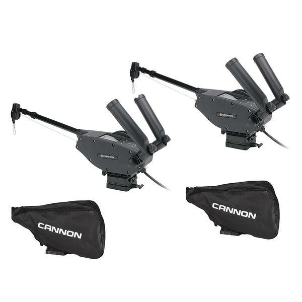 Cannon Optimum 10 BT Electric Downrigger 2-Pack w/Black Covers [1902335X2/COVERS]