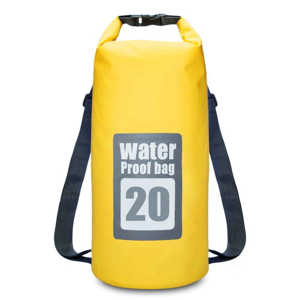 20L Water Resistant Dry Sack Bag Swimming Traveling Rafting Backpack - CHARGING BAGS