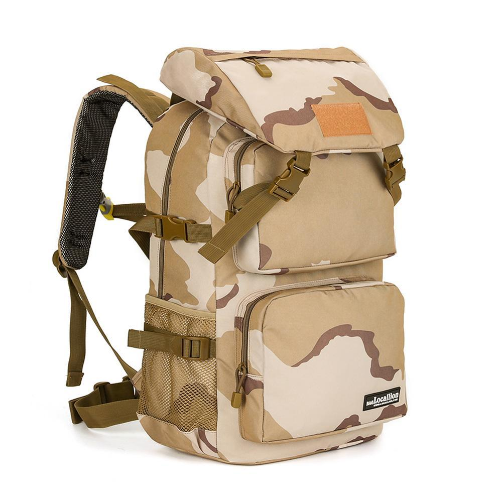 45L Water Resistant Camouflage Climbing Hiking Backpack - CHARGING BAGS