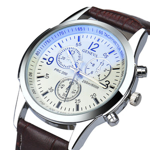 Luxury Leather Analog Watch