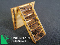 Alternate Skirmish T-Junction Staircase (Chequer Plate)