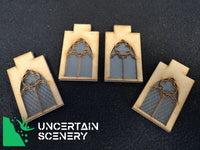 Castle Leaded Windows (set of 4) - Uncertain Scenery
