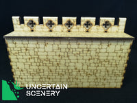 "Castle Wall Section (12"", 304mm) - Uncertain Scenery"