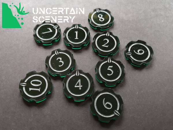 Encounter Tokens (10 humanoid - 25mm) - Uncertain Scenery
