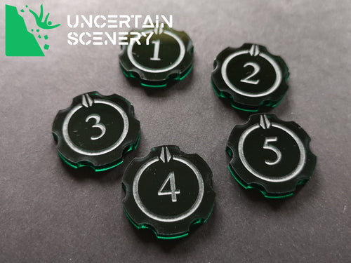 Encounter Tokens (5 humanoid - 25mm) - Uncertain Scenery
