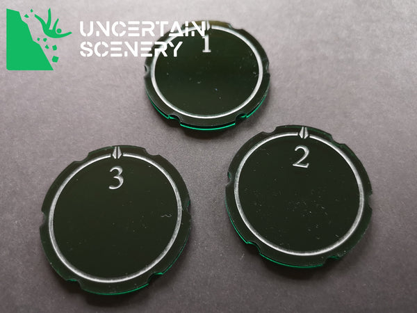 Encounter Tokens (3 large - 50mm) - Uncertain Scenery
