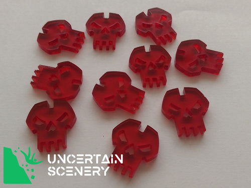 Skull Tokens (set of 10) - Uncertain Scenery