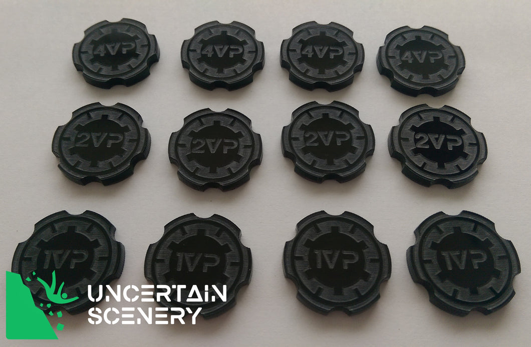 Victory Point Tokens (set of 12) - Uncertain Scenery