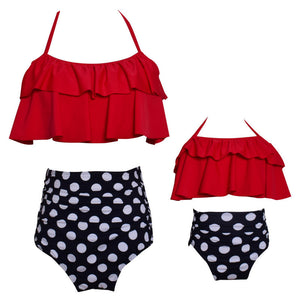 Polka Dots Mommy and Me Matching Swimsuit