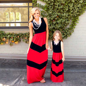 Red and Black Mommy and Me Dress