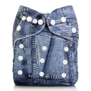 Blue Jeans Cloth Pocket Diaper