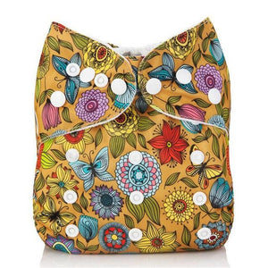 Flowers & Butterflies Cloth Pocket Diaper