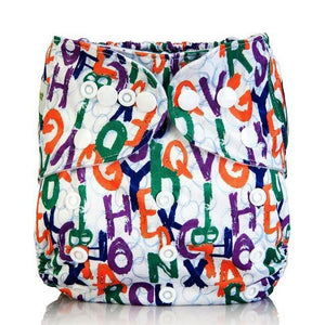 Letter Collage Cloth Pocket Diaper