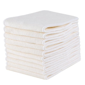 4-Layer 100% Bamboo Diaper Insert (10-Pack)