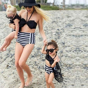 Black Bows Mommy and Me Swimsuit
