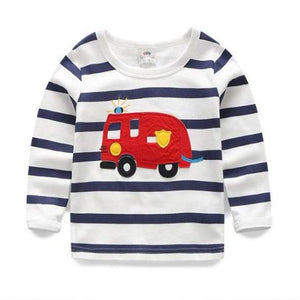 Fire Engine Long Sleeve Shirt