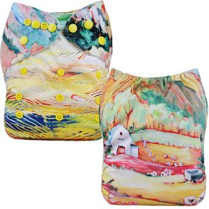 Farm Painting Cloth Pocket Diaper