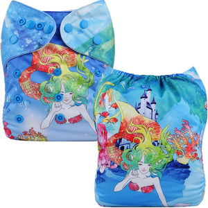 Mermaid Cloth Pocket Diaper