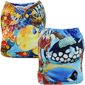 Coral Reef Cloth Pocket Diaper