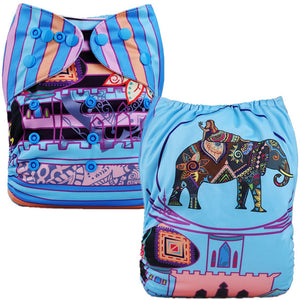 Fancy Elephant Cloth Pocket Diaper
