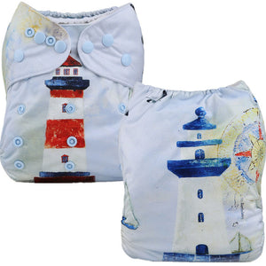 Lighthouse Cloth Pocket Diaper
