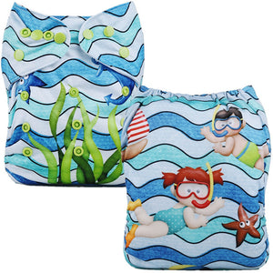 Beach Time Cloth Pocket Diaper