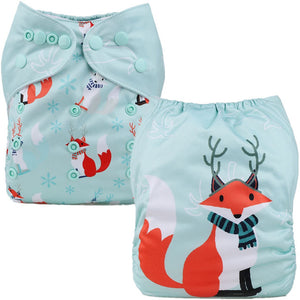 Winter Fox Cloth Pocket Diaper