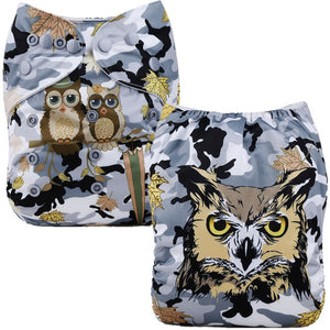 Camo Owl Cloth Pocket Diaper