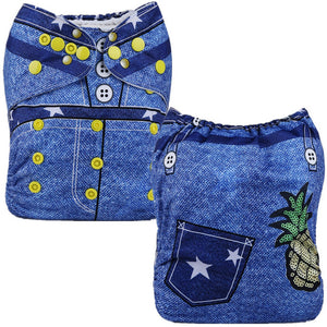 Fancy Jeans Cloth Pocket Diaper