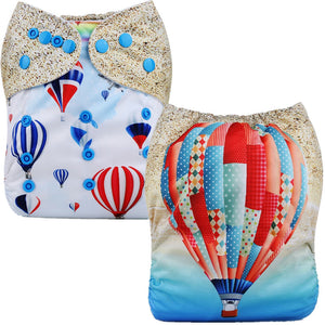 Hot Air Balloon Cloth Pocket Diaper