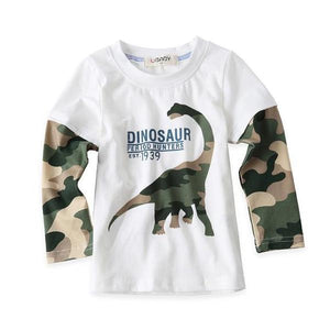 Camo Brachiosaurus Long Sleeve Shirt