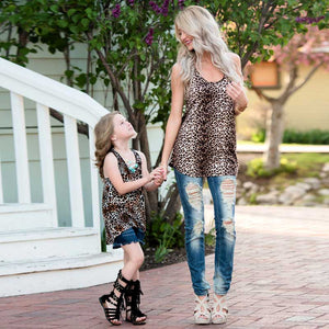 Leopard Mommy and Me Tank Top