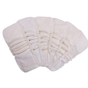 5-Layer Double Gusset Natural Bamboo Diaper Insert (5-Pack)