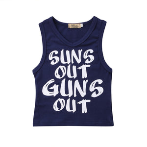 Suns Out Guns Out V-Neck Tank Top