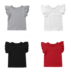 Ruffle Sleeve Basic Shirt (More Colors)
