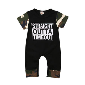 Straight Outta Timeout Jumpsuit Camo