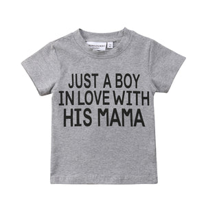 Just A Boy In Love With His Mama Shirt