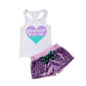 Mermaid For Life Sequin Outfit