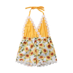 Golden Sunflower Romper