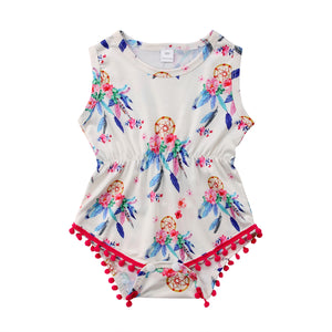 Floral Dream-Catcher Romper