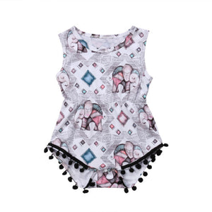 Patchwork Elephants Romper