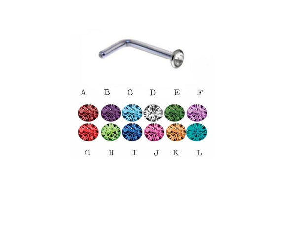20G Nose Birthstone Gems L Ring - seo-img