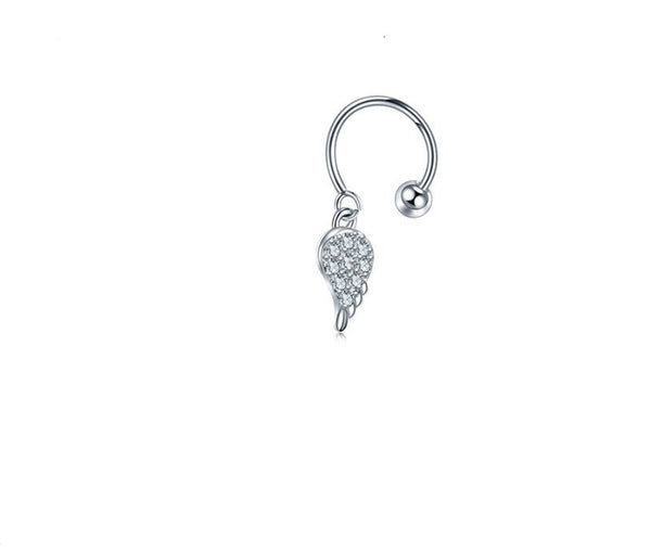 20G Cartilage hoop with dangle wing - seo-img